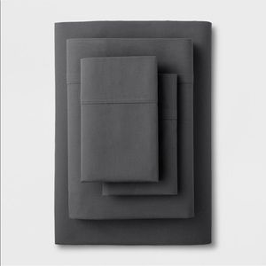 Made By Design Dark Gray Easy Care Twin Sheet Set